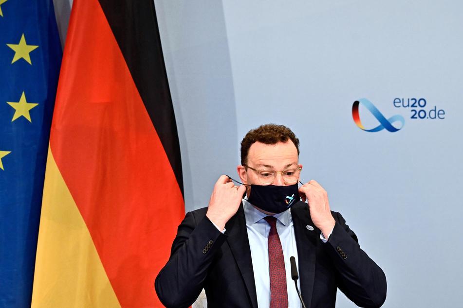Bundesgesundheitsminister Jens Spahn (CDU) bei der Videokonferenz der EU-Gesundheitsminister.