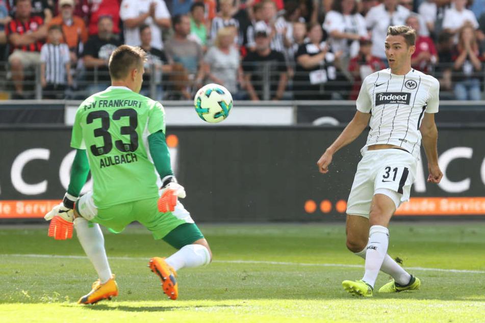 Im Testspiel gegen den FSV Frankfurt netzt eiskalt Hrgota ein.