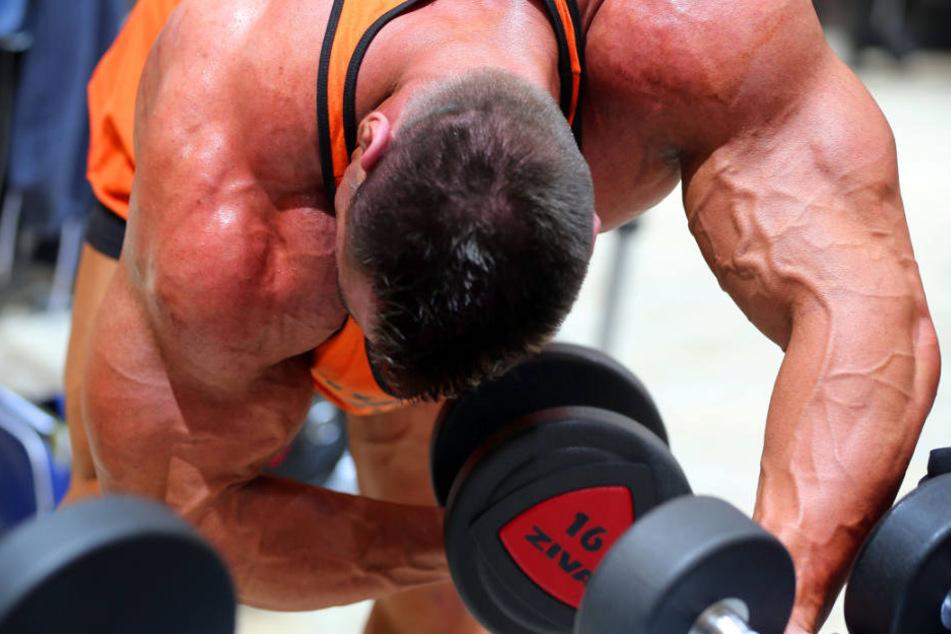 Auch Bodybuilder werden in dem Herforder Fitnessstudio nicht gerne gesehen. (Symbolbild)