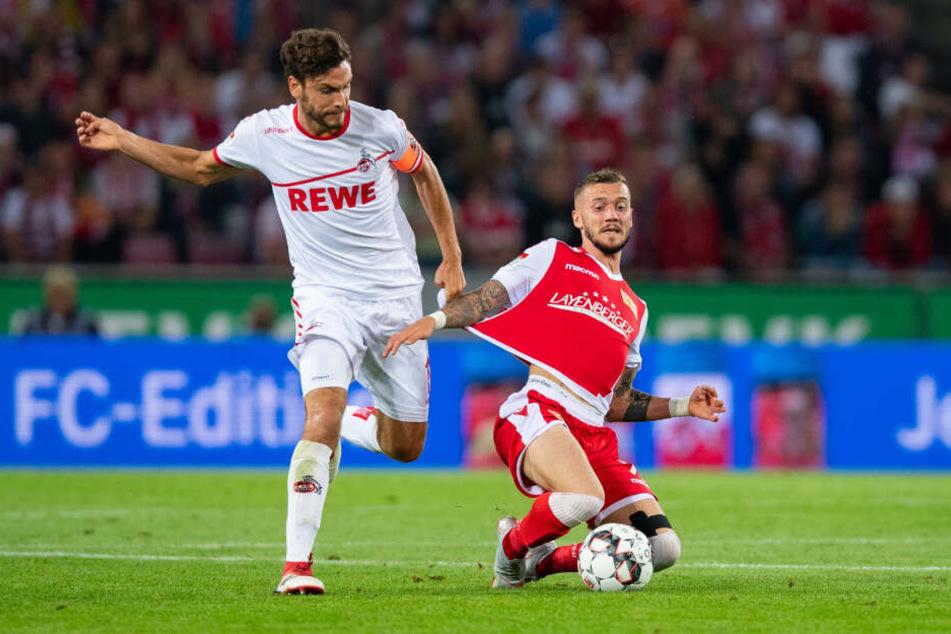 Nach dem 1:1 im Hinspiel fehlt Kölns Kapitän Jonas Hector beim Rückspiel in Berlin aufgrund einer Gelbsperre.