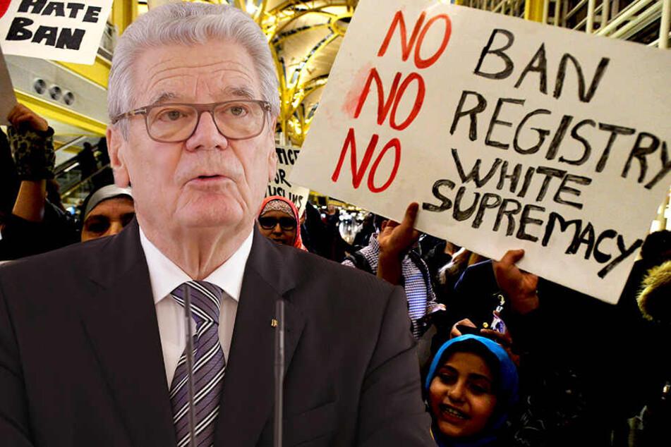 Bundespräsident Joachim Gauck (77) kritisierte das von US-Präsident Donald Trump verfügte Einreiseverbot für Bürger aus muslimisch geprägten Ländern scharf.