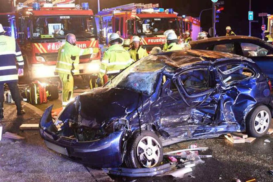 Für die beiden Insassen des Toyota Yaris kam jede Hilfe zu spät.