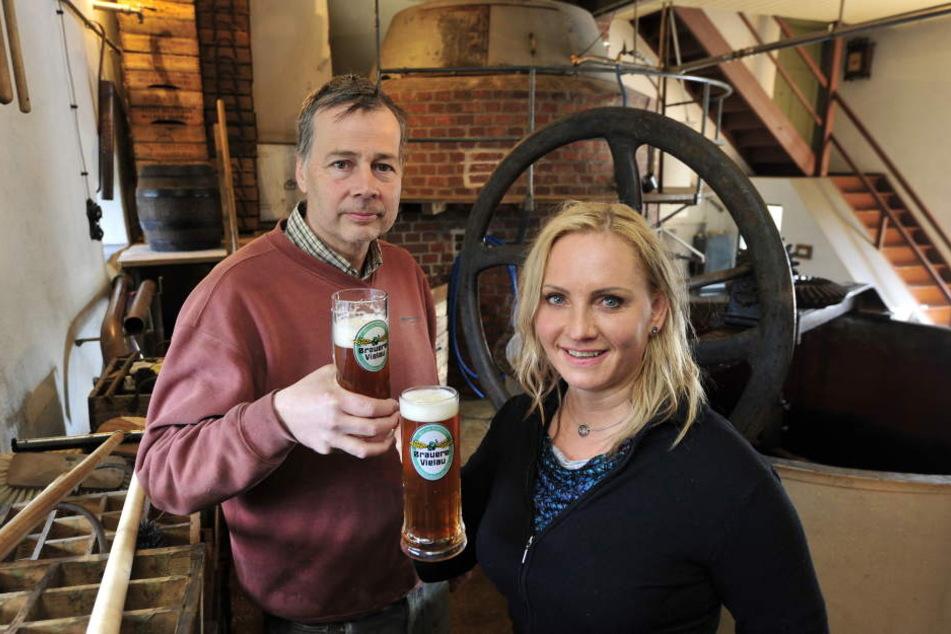 Nach den Führungen gibt es natürlich erstmal ein hausgemachtes Bier zum  Verkosten
