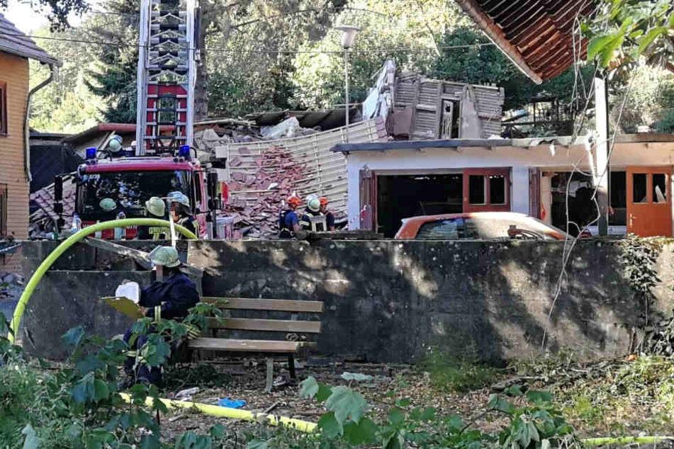 Von dem Haus blieb nur noch eine Ruine übrig.