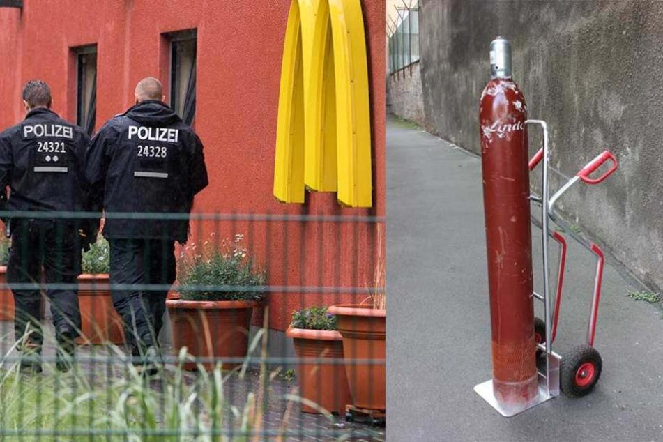 Polizei veröffentlicht Fotos vom Gas-Anschlag auf McDonald's-Filiale