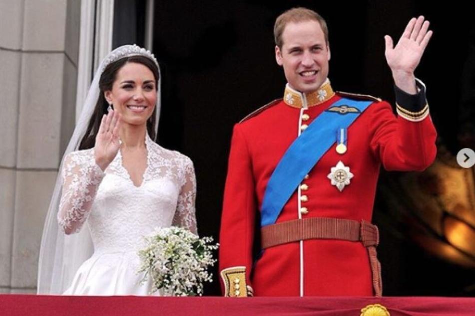 Das Hochzeitspaar: Der 29. April wurde ihnen zu Ehren sogar zum Nationalfeiertag erklärt.