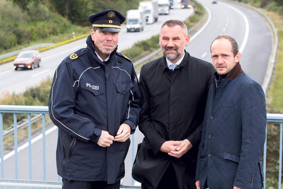 Mehrere Landtagsabgeordnete, darunter Marko Schiemann (M., CDU) und Stephan Meyer (36, CDU) wollen den Ausbau der A4 bis Görlitz.
