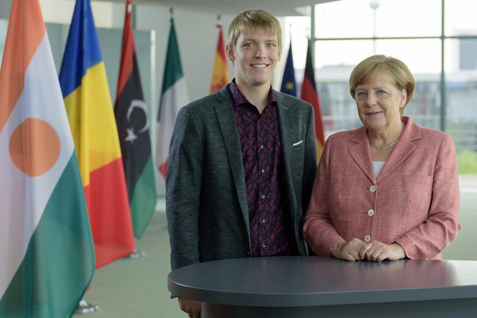 Student Björn Elsen (23) durfte Bundeskanzlerin Angela Merkel interviewen.