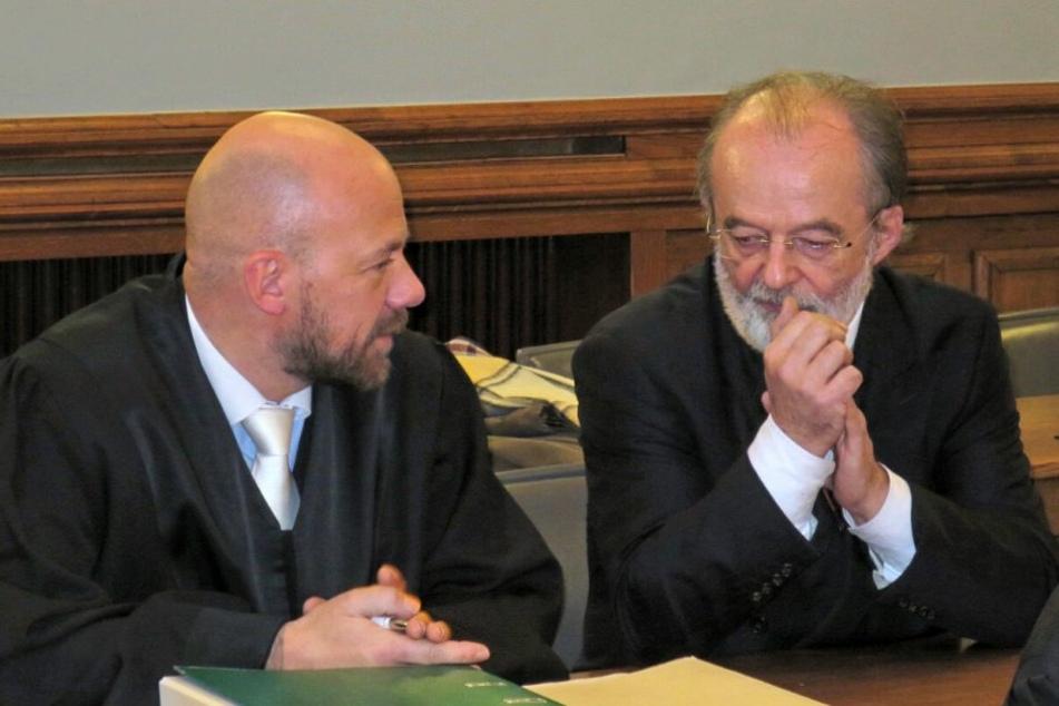 Konnte die 80.000 Euro nicht aufbringen: Ex-Landesbänker Stefan Leusder (r.),  hier mit seinem Anwalt Christian Friedrich.