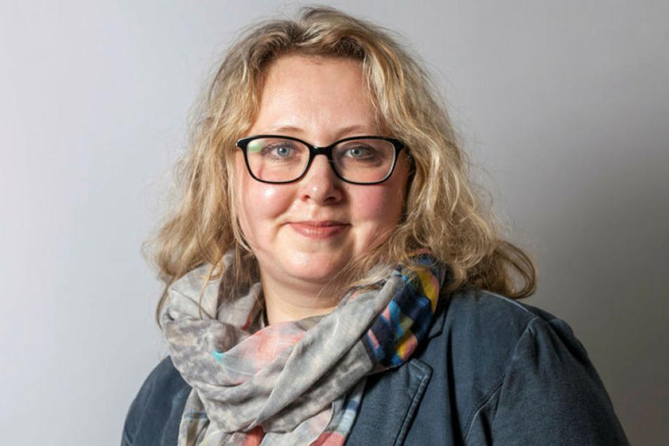 Der rostende Brunnen ist eine Gefahr für spielende Kinder, sagt Solveig Kempe (36, CDU).