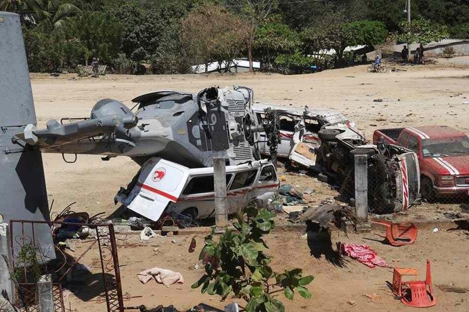 Der Pilot des Hubschraubers verlor kurz vor der Landung die Kontrolle und der Helikopter stürzte auf den letzten Metern ab