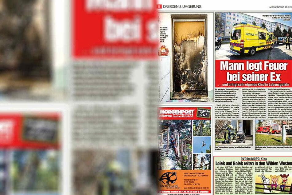 So berichtete die Morgenpost im März über den dramatischen Brand in Kamenz.