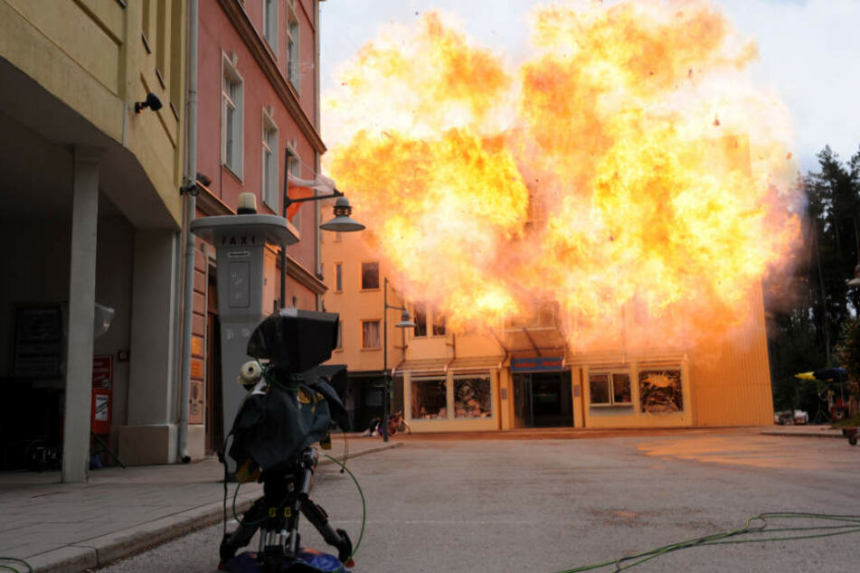 Dreharbeiten in den Bavaria Filmstudios.