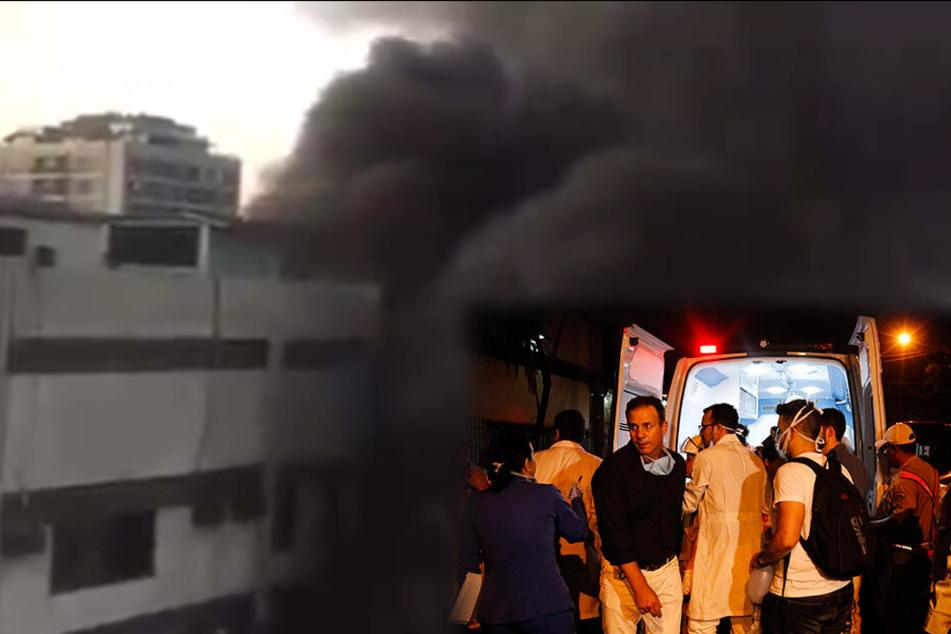 Dramatische Szenen nach Brand im Krankenhaus: Feuerhölle tötet elf Menschen!