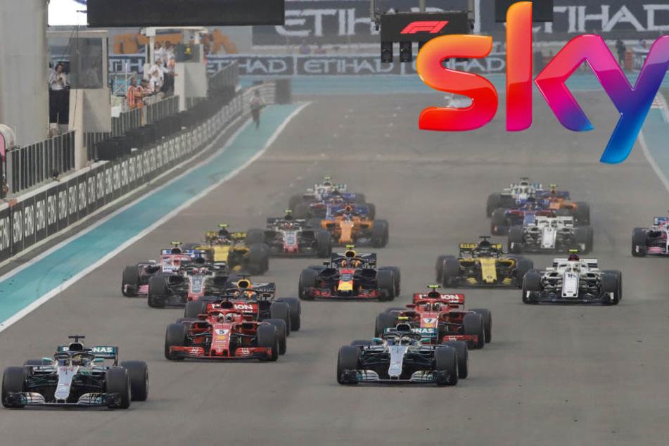 Ab 2019 könnte die Formel 1 schon über Sky Q empfangbar sein. (Bildmontage)