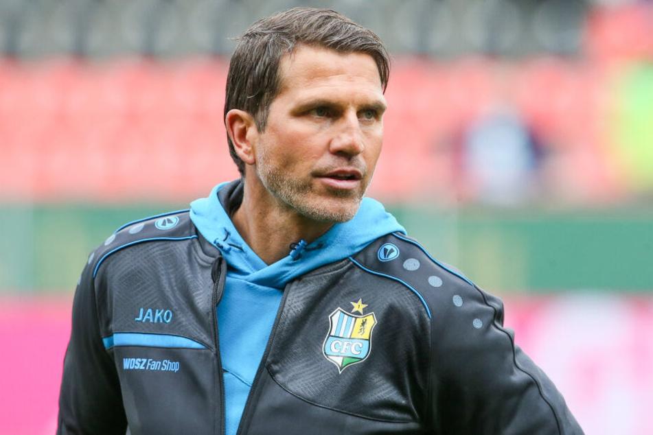 CFC-Coach Patrick Glöckner freut sich über die Leistungsdichte in seinem himmelblauen Kader.