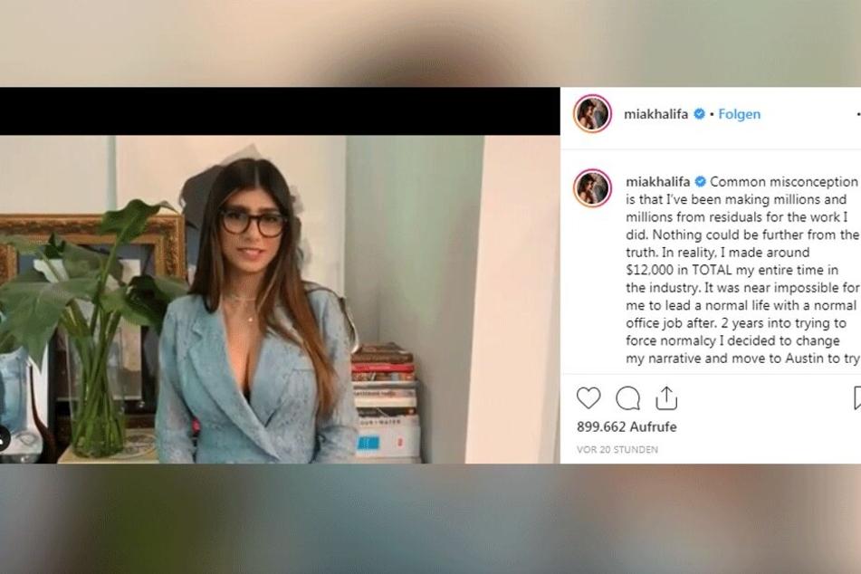 Hat Mia Khalifa während ihrer gesamten Porno-Karriere wirklich nur so wenig Geld verdient?