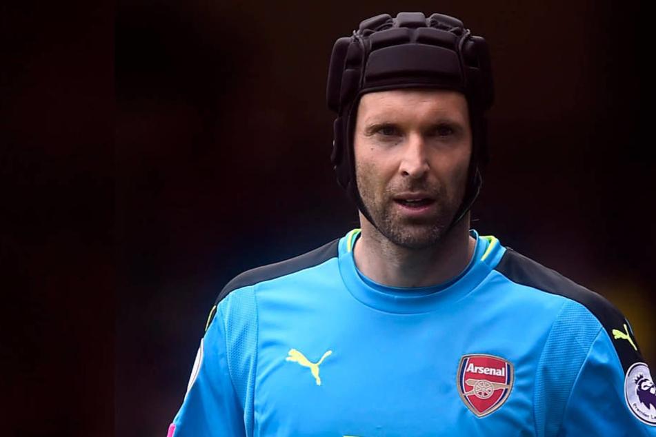 Beim Konkurrenzkampf mit Bernd Leno um den Stammplatz im Arsenal-Tor versteht Petr Cech keinen Spaß.