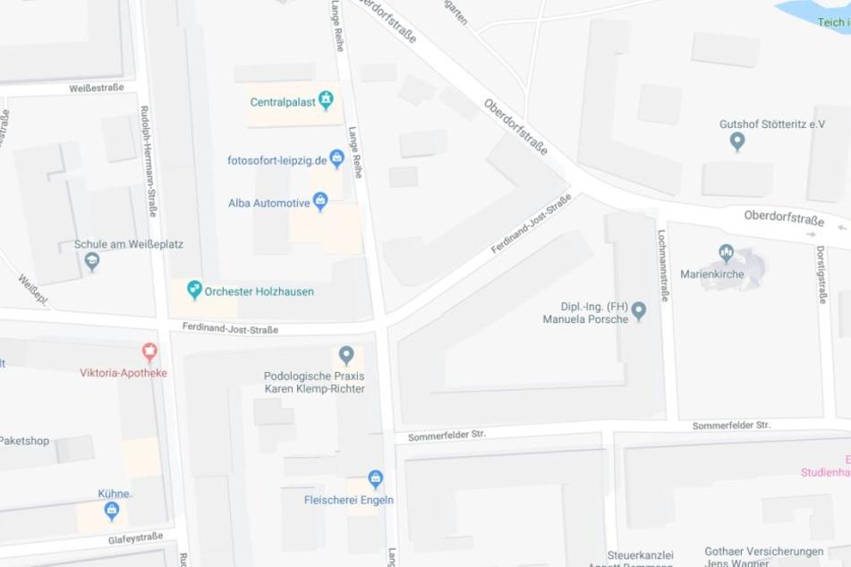 Der Unfall ereignete sich in der Straße Lange Reihe im Leipziger Stadtteil Stötteritz.