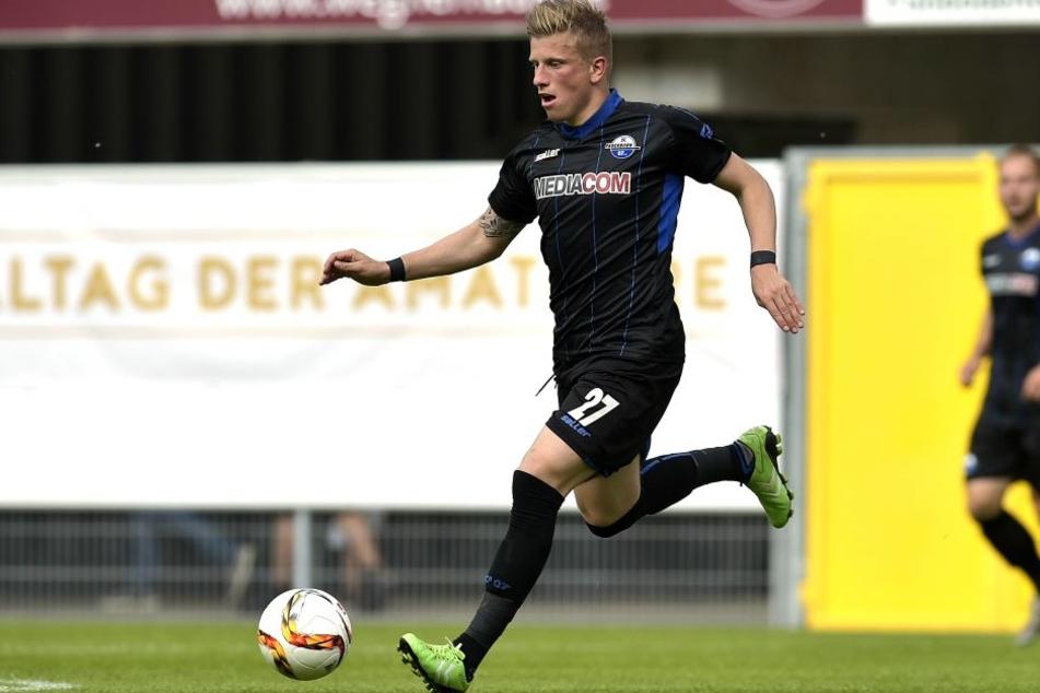 Marcus Piossek hier gerade am Ball beim letzten Westfalenpokal. In der letzten Saison kickte sich der Verein zum Sieg.