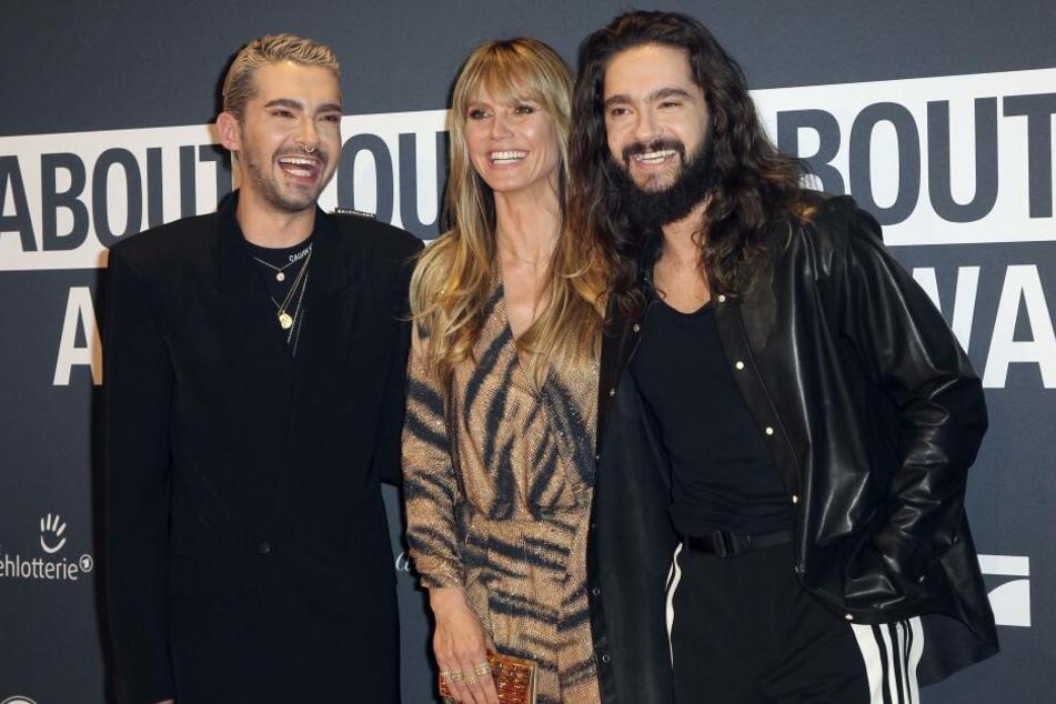 Heidi mit ihrem Verlobten Tom Kaulitz (rechts) und dessen Bruder Bill (links) im Schlepptau.