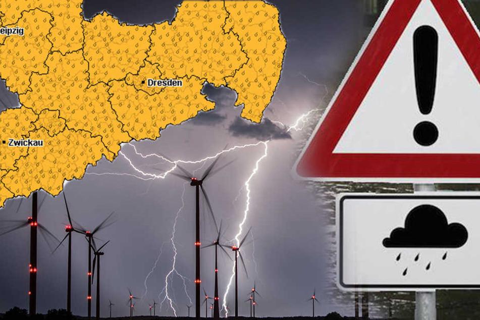 Am Donnerstag wird Sachsen wieder von heftigen Unwettern gebeutelt.