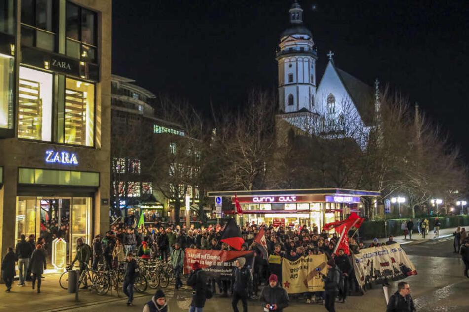 Nicht nur in Leipzig kam es zu lauten Protesten.