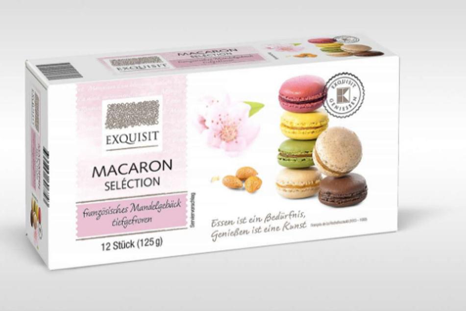 Diese Macarons enthalten nicht nur Mandeln, sondern auch Erdnüsse.
