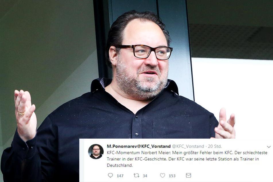 Uerdingens Investor Mikhail Ponomarev sorgte mit diesem Tweet für Entrüstung.