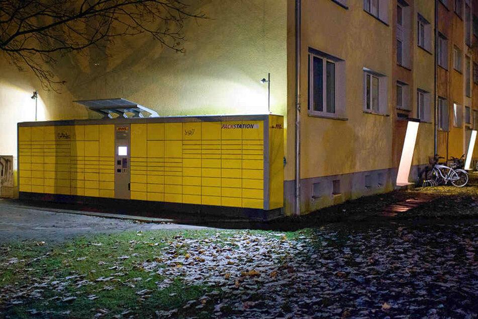 An dieser DHL-Packstation an der Kantstraße in Potsdam wurde die Paketbombe am 1. Dezember aufgegeben.