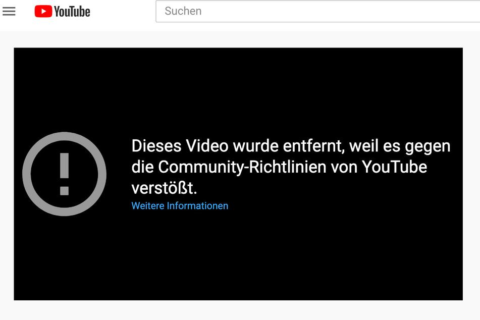 YouTube hat das Video inzwischen von der Seite genommen.