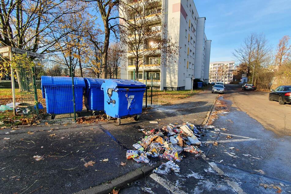 Chemnitz: Es hört nicht auf: Mülltonne in Chemnitz abgebrannt