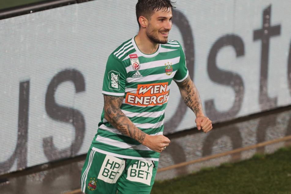 Der Grieche Taxiarchis Fountas (24) stürmt derzeit für den österreichischen Erstligisten SK Rapid Wien.