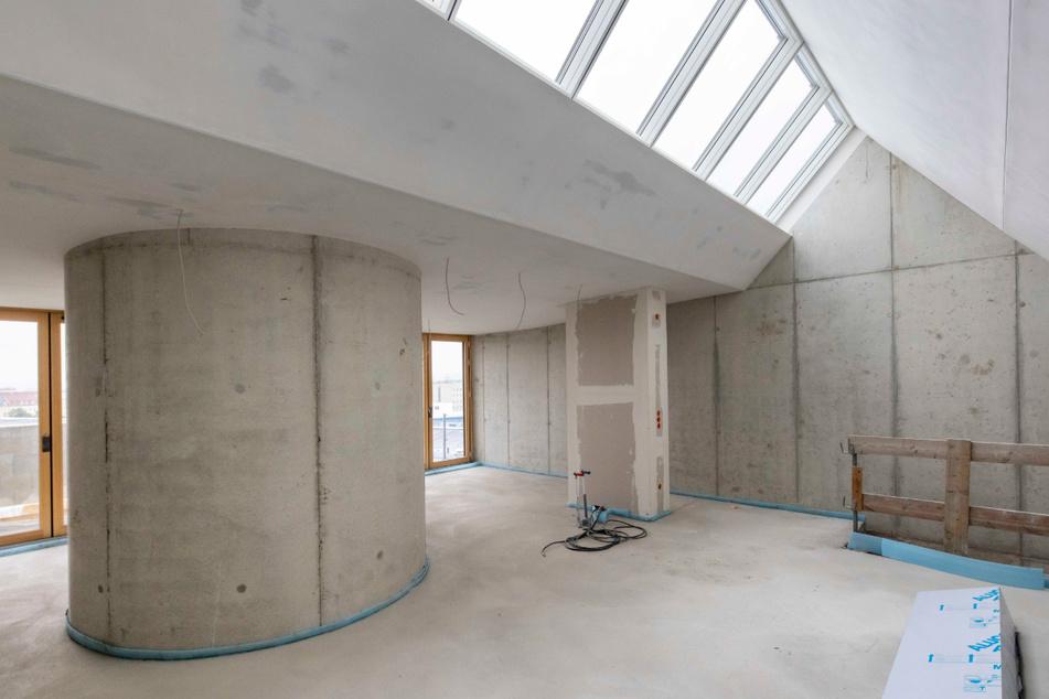 Der ehemalige Dachboden wurde zu drei modernen Wohnungen ausgebaut.