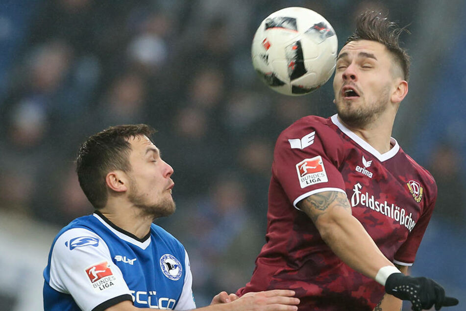 Dresdens Stürmer Pascal Testroet machte in der 81. Minute den Auswärtssieg perfekt.