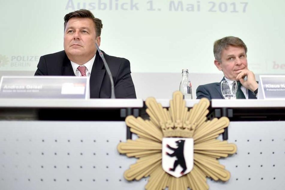 Klaus Kandt (re.) hat sich in einem Brief an Andreas Geisel (li.) über die Arbeit der Ordnungsämter in Berlin beschwert.
