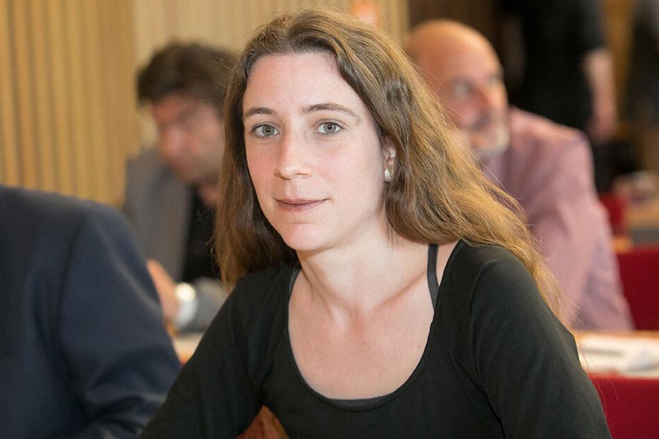 Auch Kerstin Wagner (39, Linke) engagiert sich für mehr Gemeinwohl-Ökonomie in Dresden.