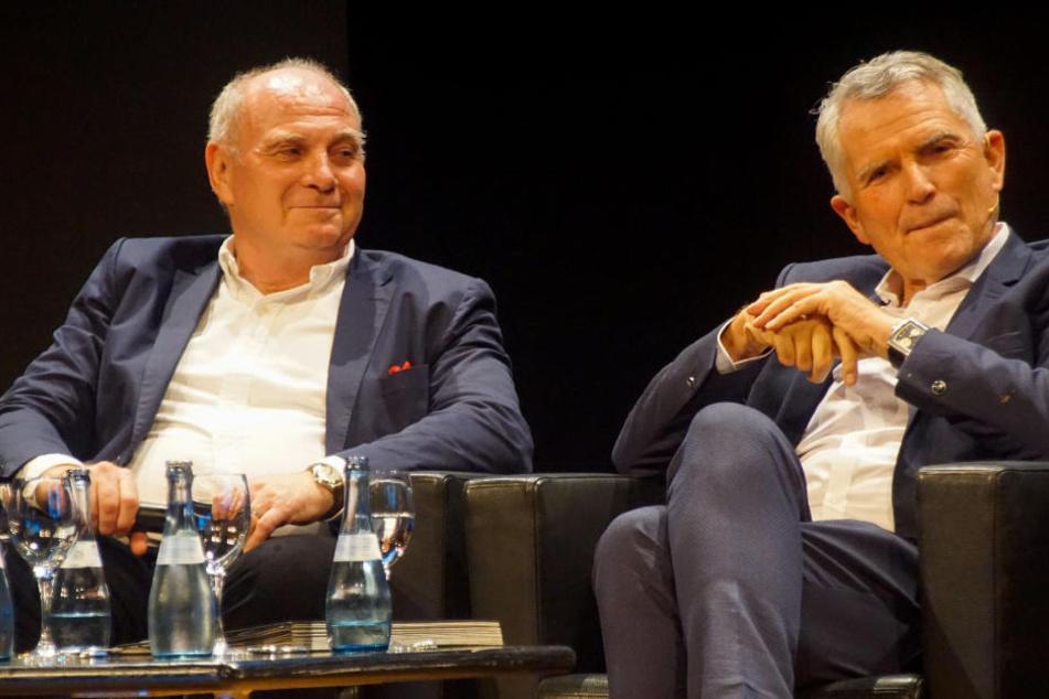 Präsidenten unter sich: Bayerns Uli Hoeneß und VfB-Boss Wolfgang Dietrich (r.)