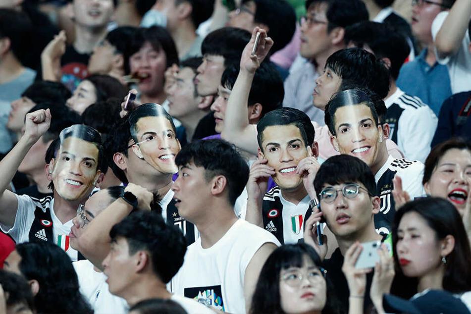 Die südkoreanischen Zuschaer hatten sich einiges für ihr Idol ausgedacht - leider vergebens.