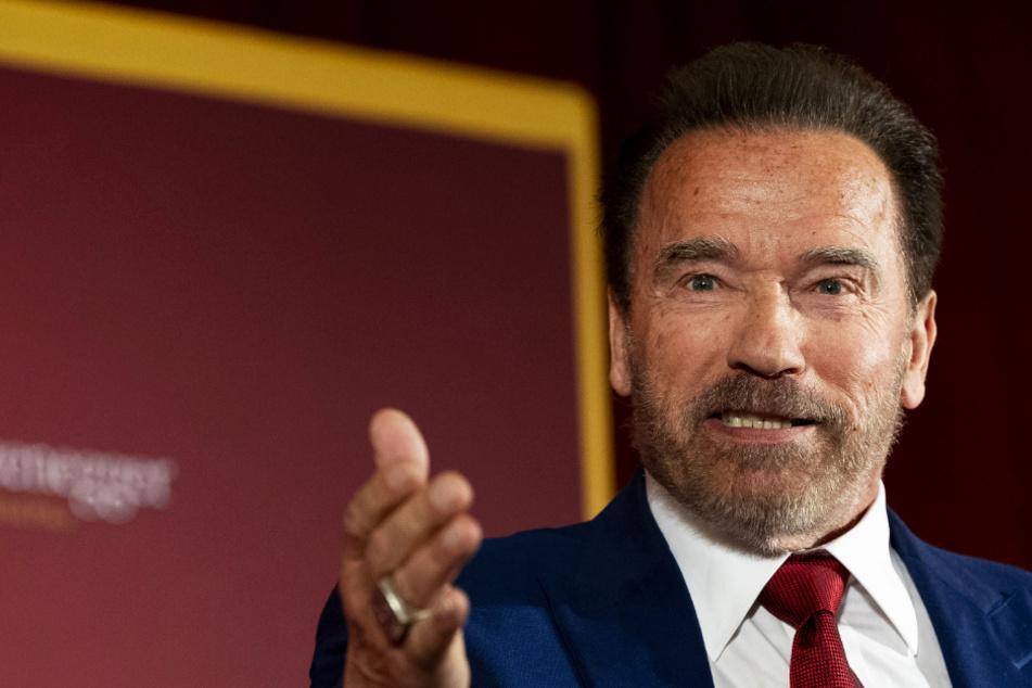 Wegen des Coronavirus: Schwarzenegger sorgt mit Esel und Hund für Lacher