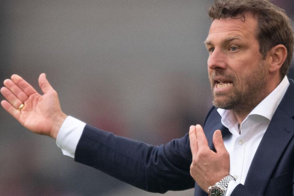 Wild gestikulierend: VfB-Coach Markus Weinzierl.
