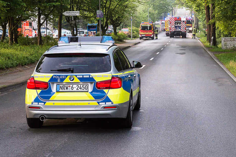 Neben der Feuerwehr war auch die Polizei vor Ort.