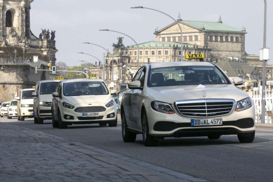 164 Taxis machten beim Dresdner Hubkonzert mit.
