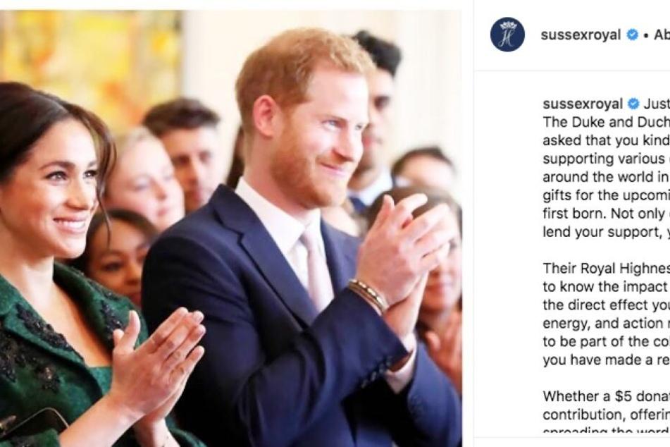 Mit diesem Post setzten Meghan und Harry gleich mal einen neuen Trend: Baby Sussex!