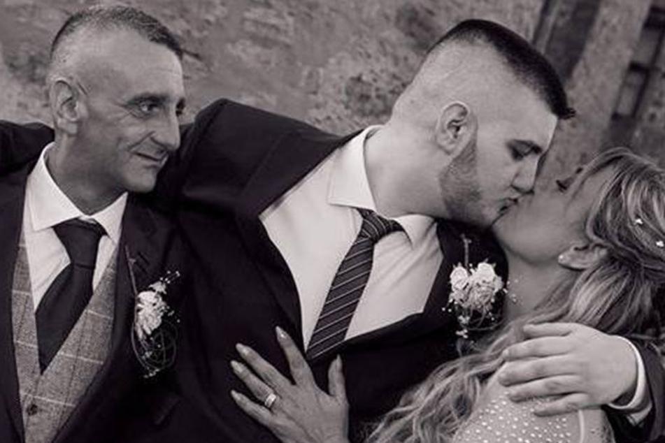 Jo und Jason bei ihrer Hochzeit.