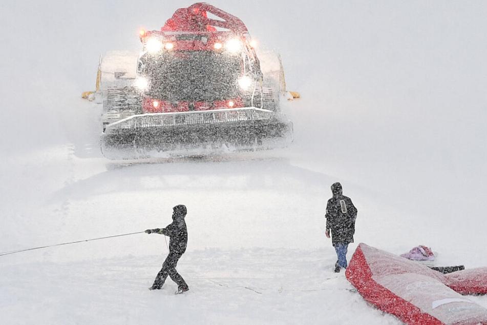 An einen Riesenslalom ist in Garmisch-Partenkirchen aktuell nicht zu denken.
