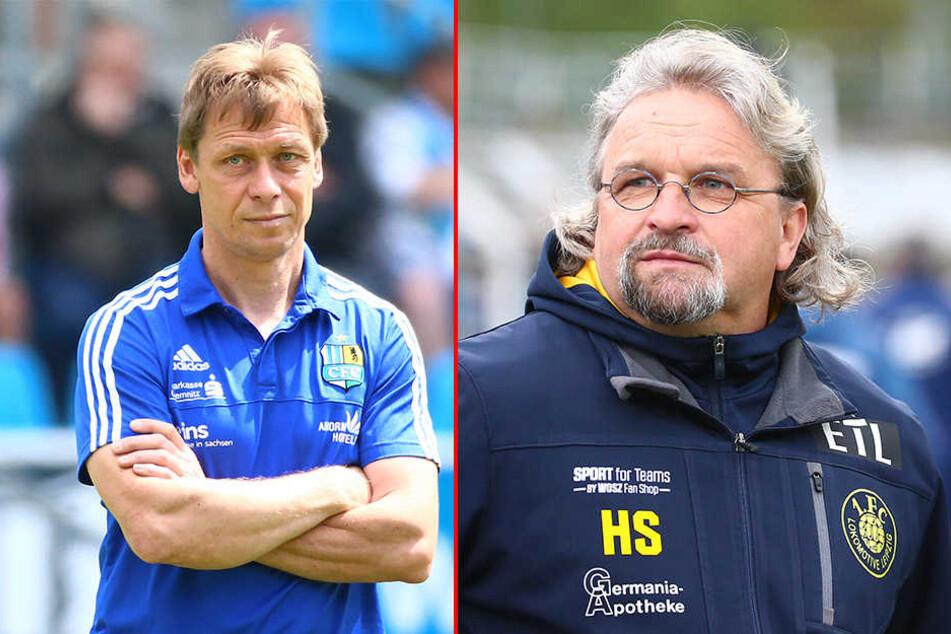 CFC-Trainer Sven Köhler (links) und Lok-Coach Heiko Scholz (rechts) sind heiß auf das Pokalfinale am Mittwoch.
