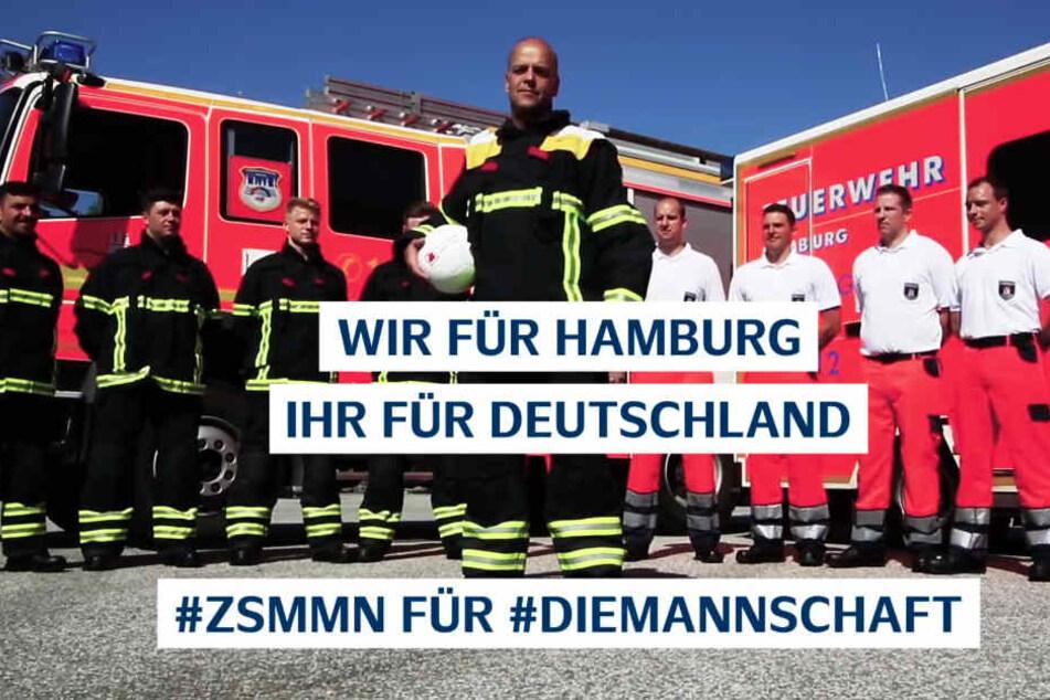 Die Feuerwehr Hamburg steht hinter der Nationalmannschaft