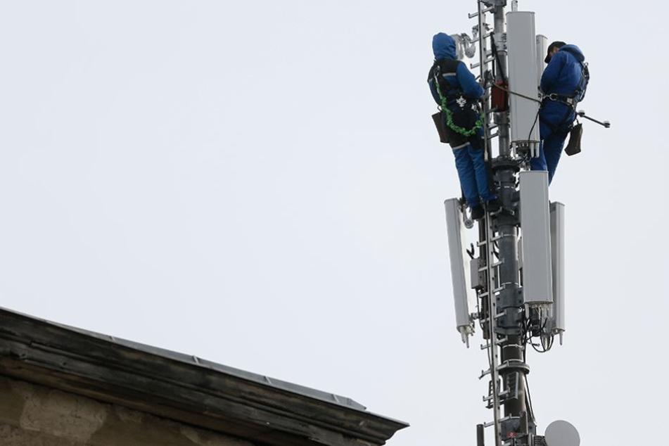 Ein Mobilfunkmast in Berlin-Kreuzberg.