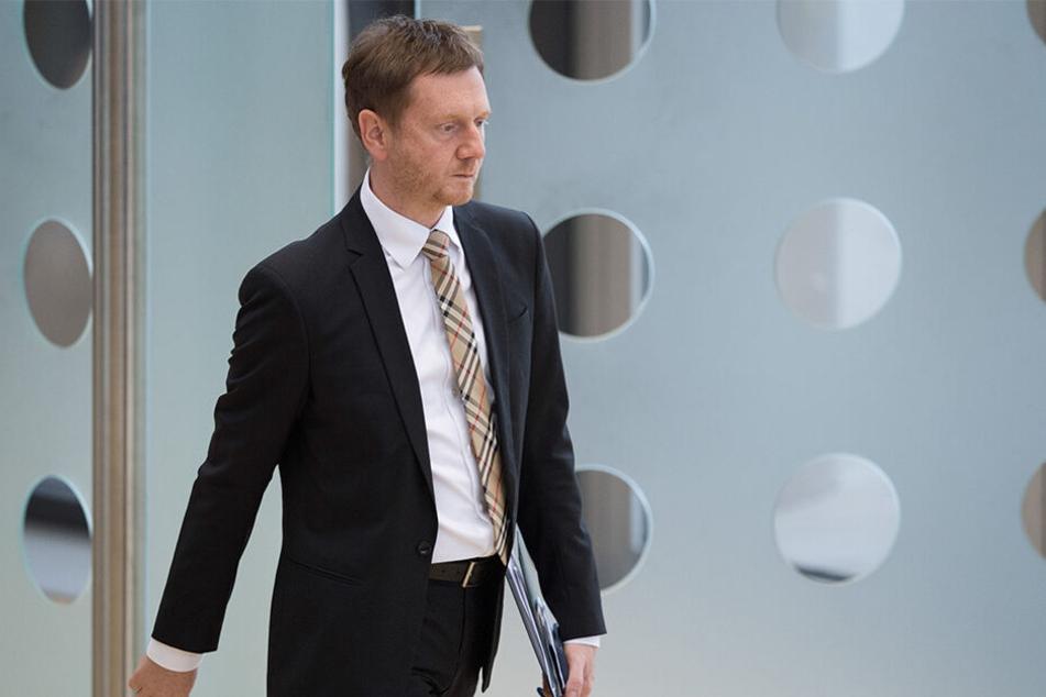 Michael Kretschmer (44, CDU) kann mit dem Wahlergebnis der Union nicht zufrieden sein.